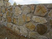 Забор из дикого, рваного камня двухсторонняя кладка, Новые Петровцы, фото 1