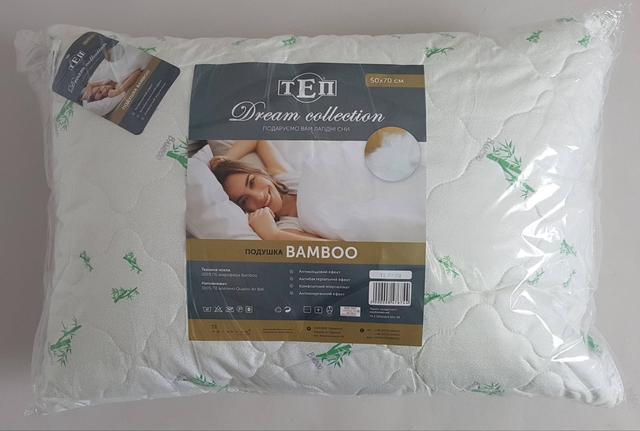 фотография подушка с наполнителем Бамбук