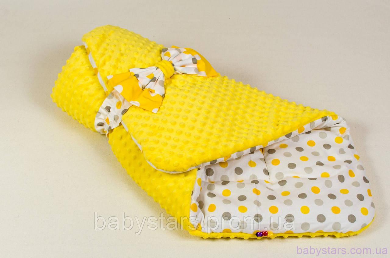 "Демисезонные конверты одеяла 80х85 см, ""Солнышко"" цвет желтый"