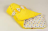 """Демисезонные конверты одеяла 80х85 см, """"Солнышко"""" цвет желтый, фото 1"""