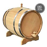 Бочка дубовая для вина, коньяка 50л. от производителя, обруч нерж.