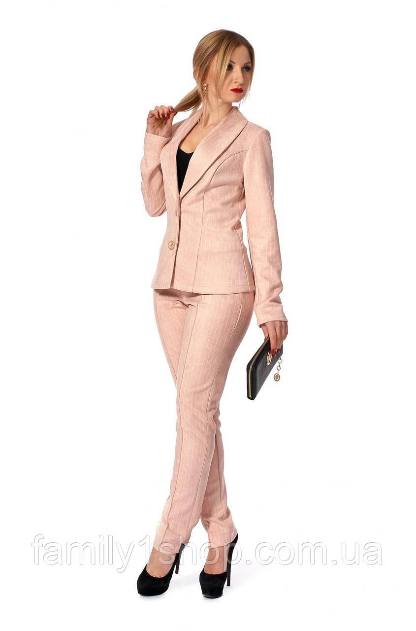 2821bde8bea Деловой женский костюм-двойка пиджак и брюки. - Familyshop в Хмельницком