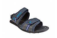 Кожаные мужские сандалии босоножки больших размеров Big Boss синие 46 47 48 49 50