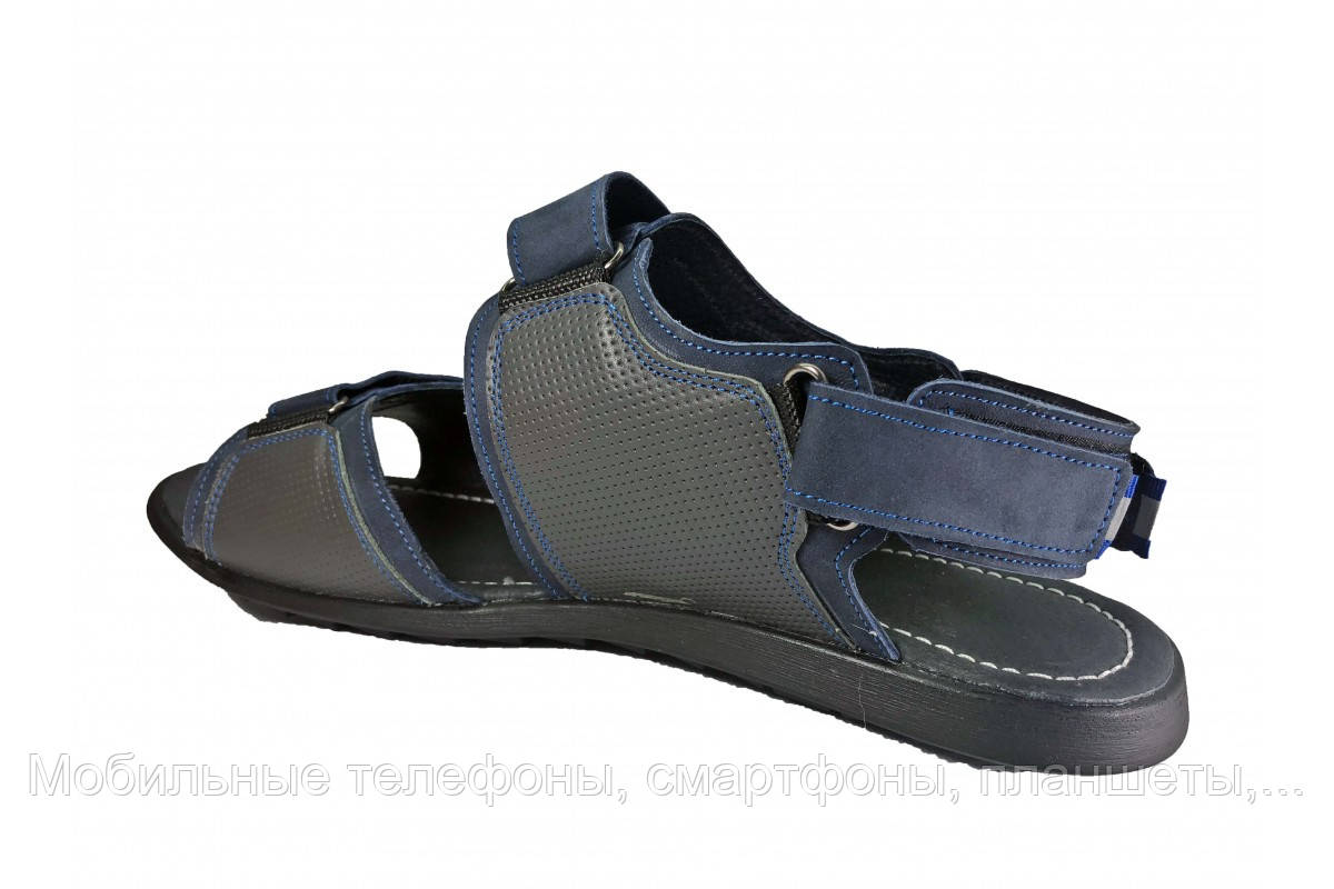 22eafb616 ... фото Кожаные мужские сандалии босоножки больших размеров Big Boss синие  46 47 48 49 50, фото