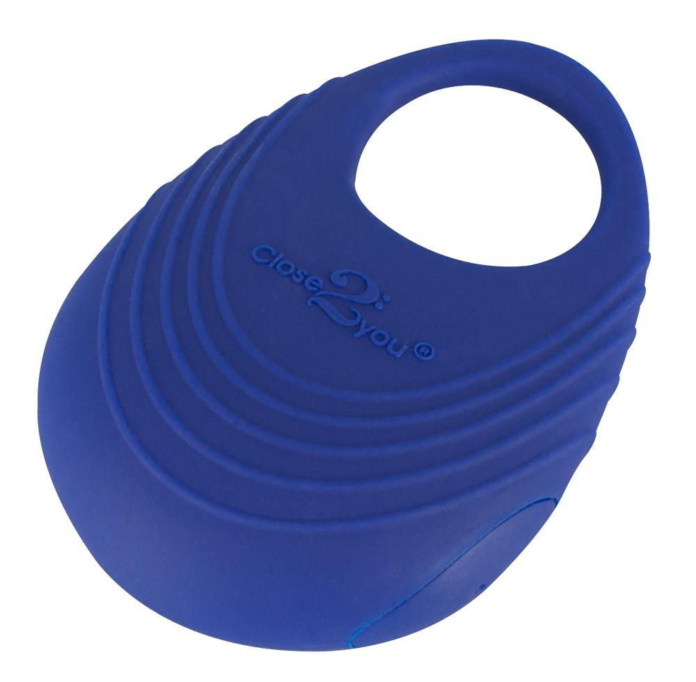 Виброкольцо на пенис Per Due  (синее)