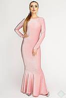 Изысканное вечернее платье Русалка Люрекс розовый