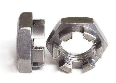 Гайка М6 прорезная и корончатая ГОСТ 5919-73, (аналог DIN 937)