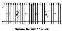 Кованные распашные ворота