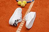 Мужские белые в стиле кроссовки Adidas Stan Smith (White/black), (Реплика ААА), фото 4