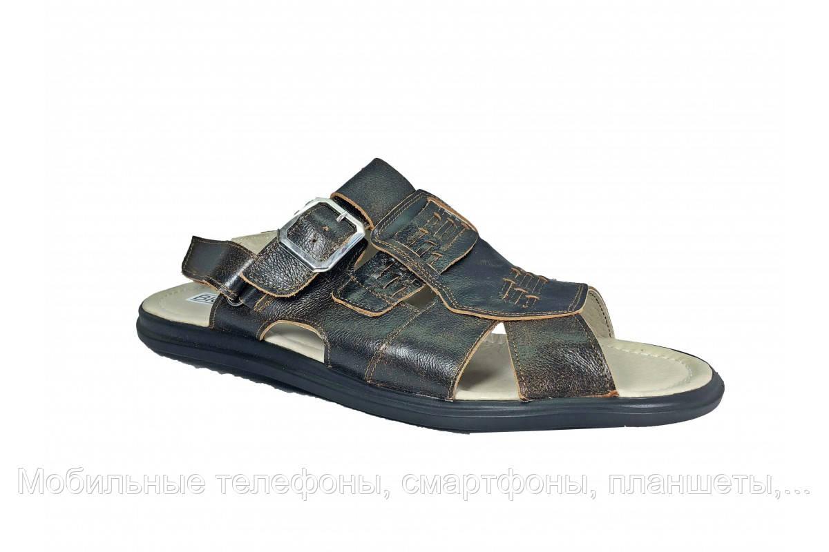 Мужские кожаные коричневые сандалии Big Boss больших размеров 46 47 48 49 50
