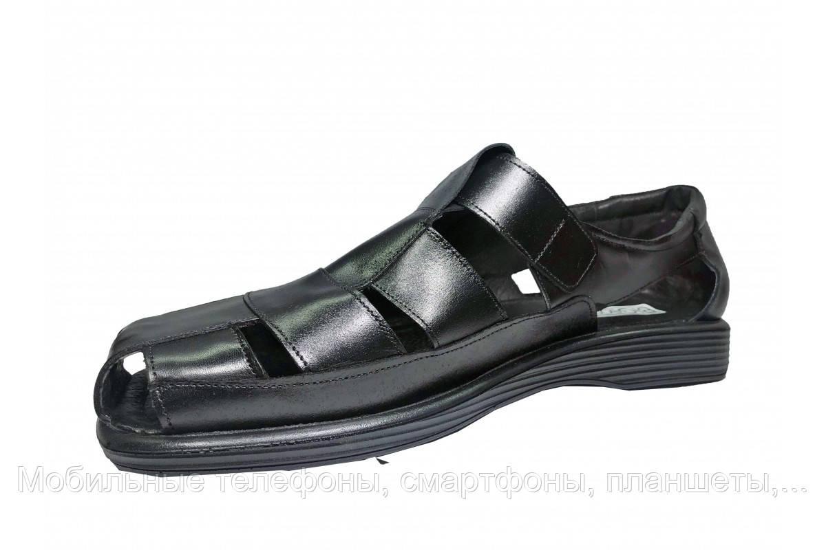 bb69e64cb ... Удобные мужские кожаные черные сандалии босоножки Big Boss огромных больших  размеров 46 47 48 49 50 ...