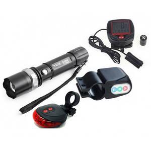 4 в 1 вело дорожка сигнализация фонарь спидометр