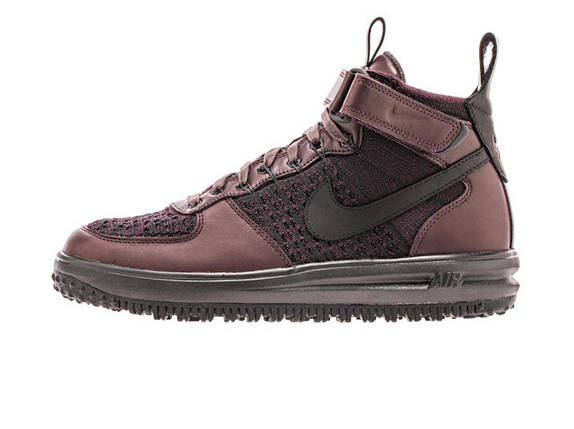 Мужские кроссовки Nike Lunar Force 1 Flyknit Workboot Purple, Black, фото 2