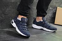 Мужские кроссовки для бега Asics, артикул: 7182 темно синие с белым