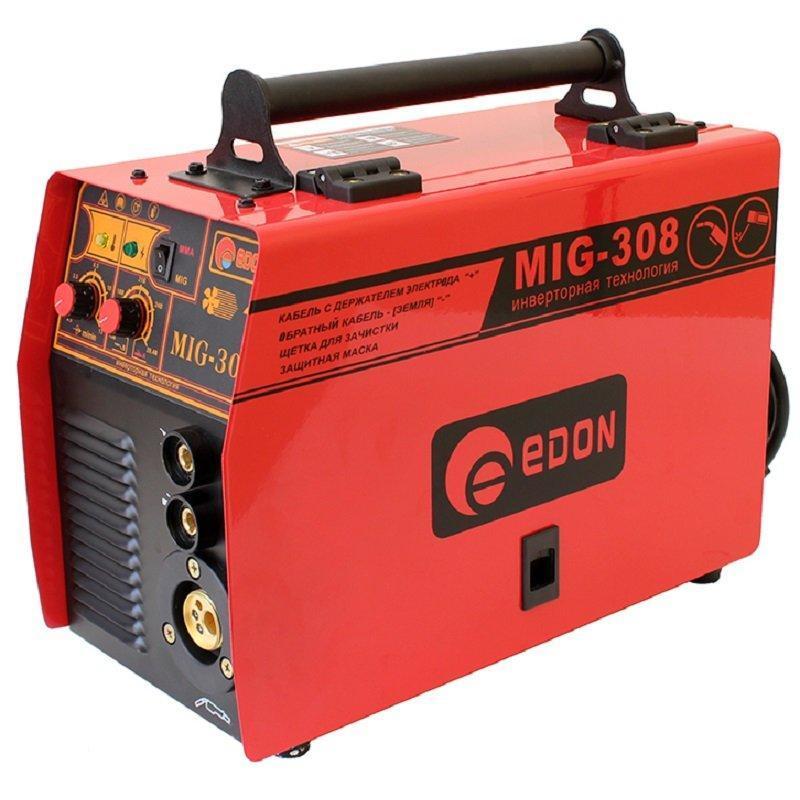 Сварка инверторная полуавтомат 2 в 1 Edon MIG-308  (БЕСПЛАТНАЯ ДОСТАВКА)