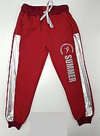 Спортивные штаны для девочки 5-8 лет бордового цвета оптом