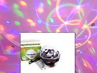 Диско шар (дискошар) беспроводной аккумуляторный с Bluetooth с пультом ДУ 7 color DMX 512, фото 1