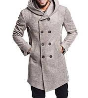 Мужское стильное кашемировое пальто на пуговицах с атласной подкладкой  (кашемир+шерсть) 4 цвета 7d4e1cc78cfa2