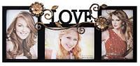 Фоторамка LOVE на 3 фотографии