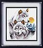 Набор для рисования камнями (холст) Волки LasKo