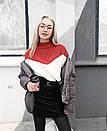 Свитер триколор крупной машинной вязки, фото 8