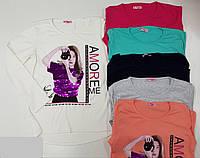 Батник для девочки на 12-16 лет персикового, красного, серого, бирюзового цвета девушка перевертыш оптом