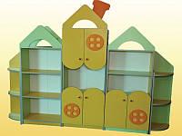 Детская стенка для игрушек Домик (2400*300*1850h)
