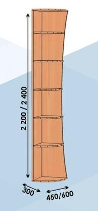 Консоль дуга 300*600*2200 (Алекса)