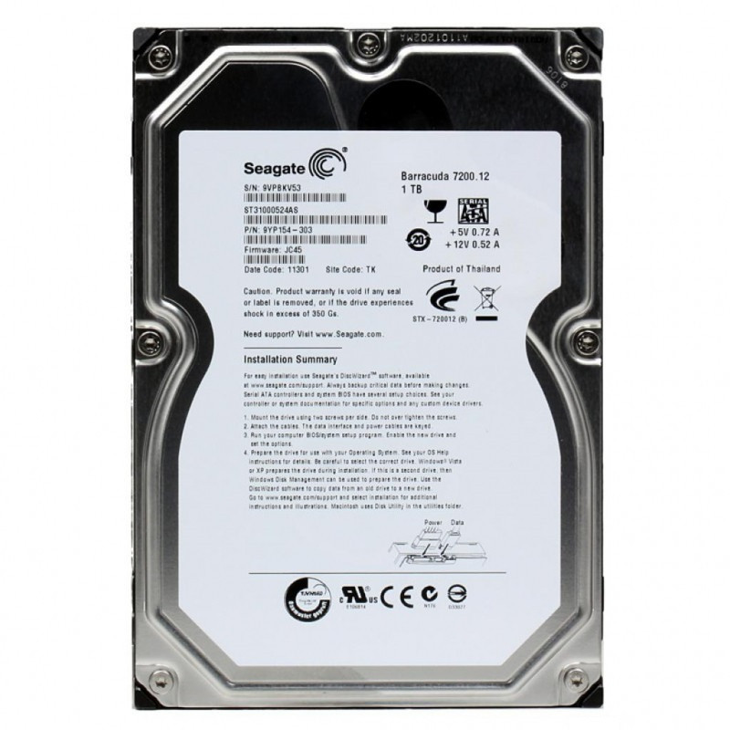 "Жестки диск Seagate ST310000524AS 1TB 7200RPM 32Mb ""Over-Stock"" Б/У"