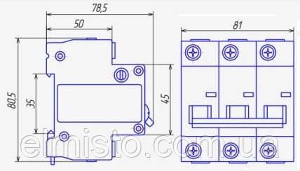 Автоматичні вимикачі CHINT DZ158-125 на DIN-рейку