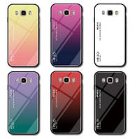 TPU+Glass чехол градиент для Samsung Galaxy J7 J710 2016 HELLO (Разные цвета)