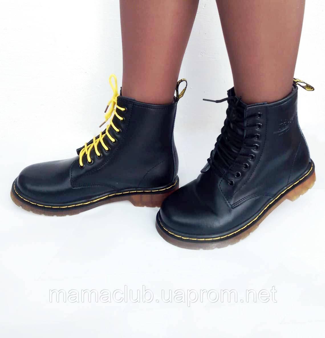 Dr. Martens, ботинки-мартинсы женские и мужские зимние, модель 1460, черные и бордовые