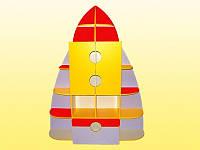 Детская стенка для игрушек Ракета (1580*350*2050h)
