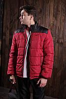 Куртка мужская в стиле Nike демисезонная весенняя осенняя / красно-черная