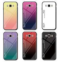 TPU+Glass чехол градиент для Samsung Galaxy J1 2016 J120 HELLO (Разные цвета)
