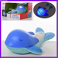 Детский плюшевый ночник 03106 дельфин