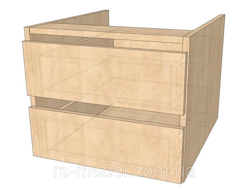 Блок из двух ящиков без ручек (Алекса)