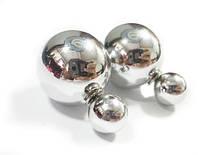 Серьги шарики в стиле Mise en Dior серебристые глянцевые