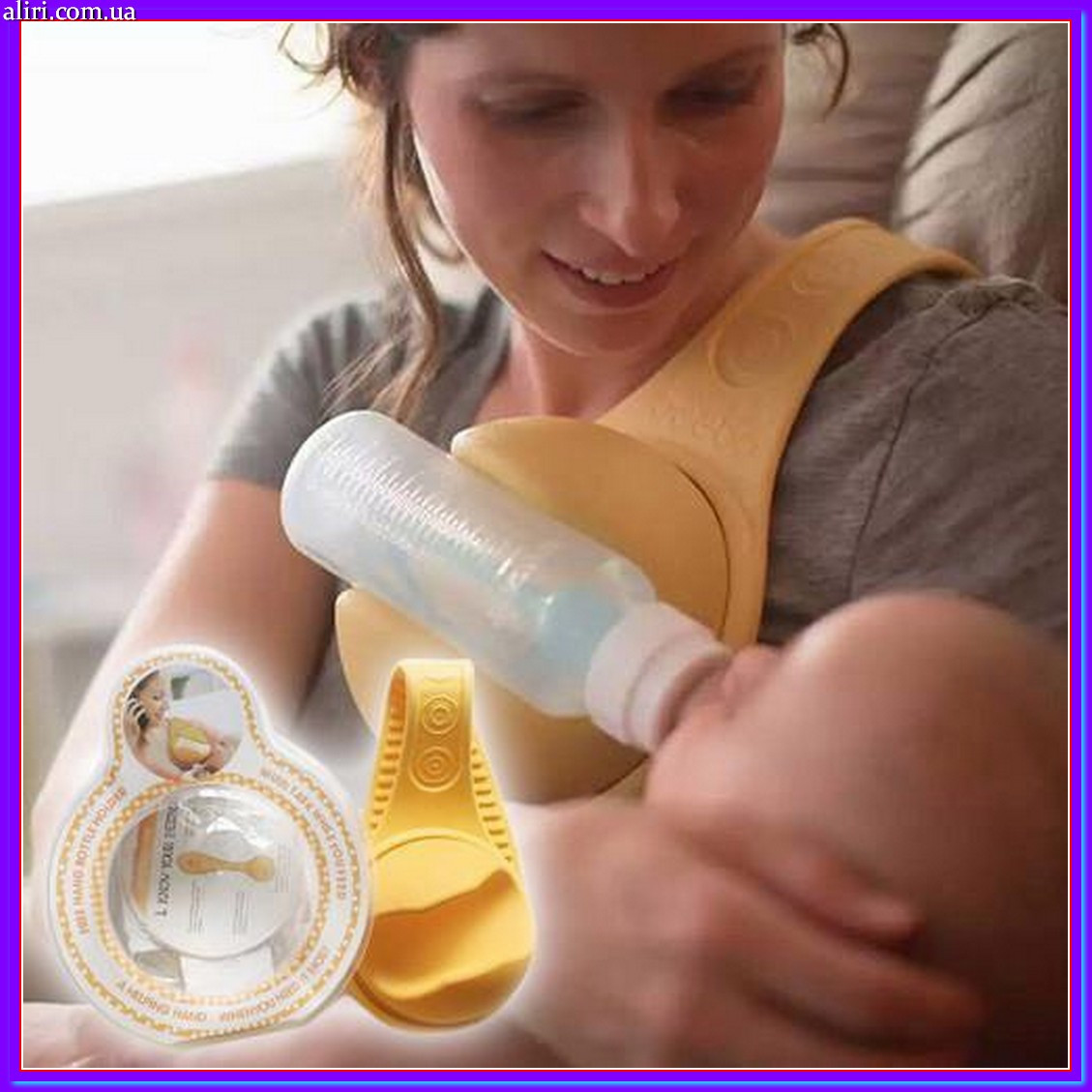 Держатель детской бутылочки для кормления Free Hand Bottle Holder