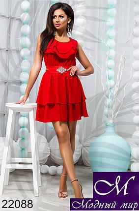 c611d306c79 Женское летнее шифоновое платье красный (р. 42-44