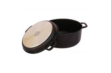 Кастрюля антипригарная Biol - 220 х 146 мм х 3 л с крышкой-сковородкой