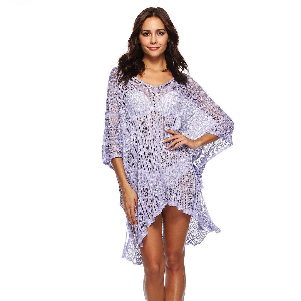 Пляжная туника, платье светло фиолетовое 2271