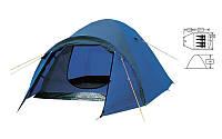 Палатка 4х местная FRT-211-4 (120+210)*245*130см (полиэстер 190T, дно PU 800мм, с тентом,швы проклеенные)