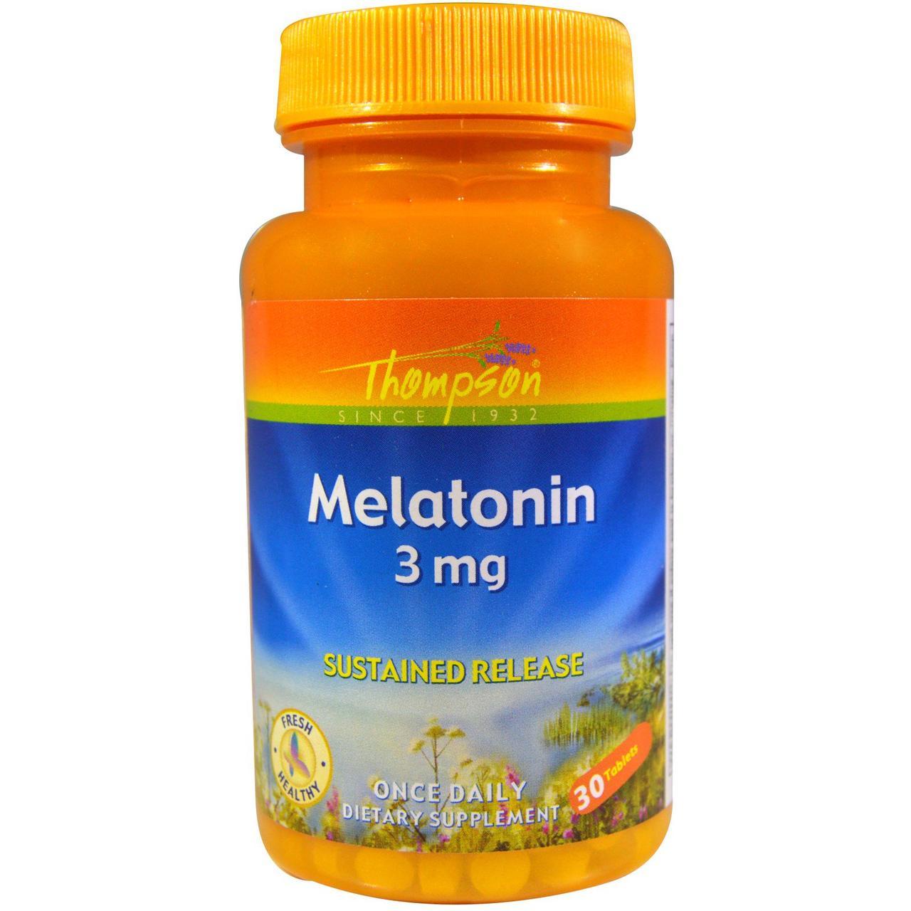 Мелатонин, 3 мг, 30 таблетки Thompson