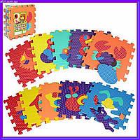 Игровой коврик Мозаика Животные, 10 деталей, 31,5х31,5 см M 2616