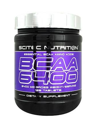 Аминокислота Scitec Nutrition BCAA 6400 125 таблеток, фото 2