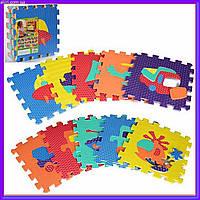 Игровой коврик Мозаика Транспорт 10 деталей, 31,5*31,5 см, M 2620