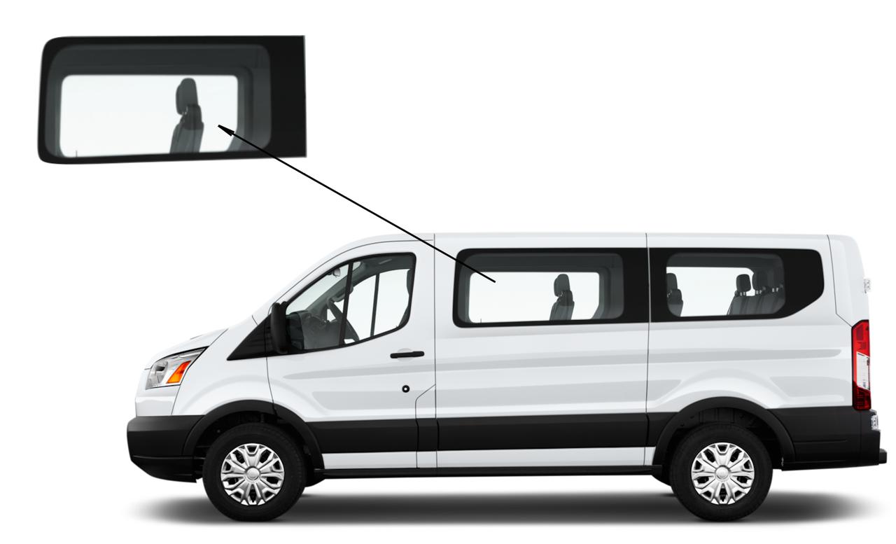 Боковое стекло Ford Transit Custom 2013-2018 переднее левое