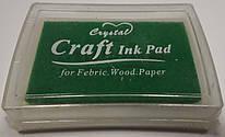 Штемпельная подушка с чернилом зеленого цвета 4*6 см, Crystal, 943172