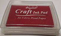 Штемпельная подушка с чернилом красного цвета 4*6 см, Crystal, 943189